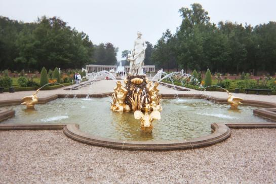A fountain in the Paleis Het Loo gardens in Apeldoorn, Netherlands.