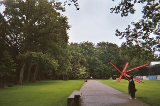 The entrance to the Kroller-Muller Museum sits in the middle of Hoge Veluwe National Park in Apeldoorn, Netherlands.