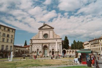 The Church of Santa Maria Novella in Florence, Italy.