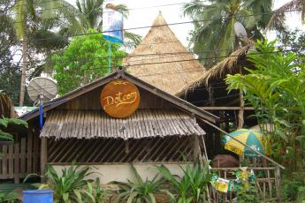 The Dot Com Internet hut in the Burmese-Thai jungle