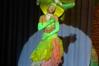 A lip-synching, Ladyboy at Simon Chiang Mai