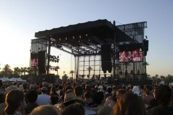 Kings of Leon plays on Coachella's mainstage
