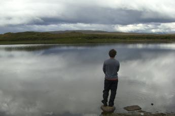 Brian looking at lake