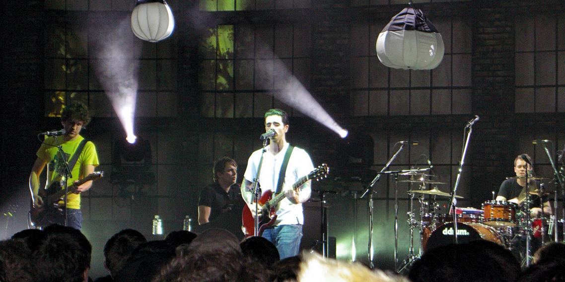Dashboard Confessional plays at the Moore Theatre in Seattle, Washington