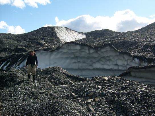 Hank walks across Muldrow Glacier.