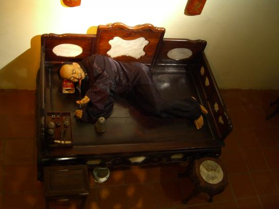 A model of an opium den in Thailand's Hall of Opium