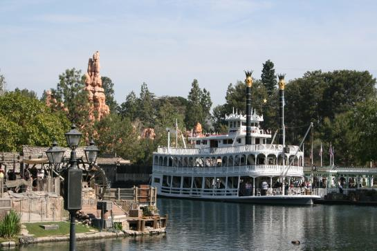 Disneyland's Mark Twain Riverboat is built at a 5/8 scale.
