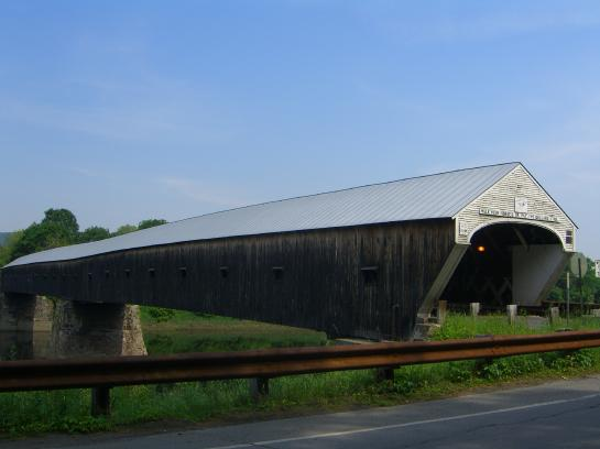 New Hampshire's Cornish-Windsor Bridge, the longest two-span wooden covered bridge in the world.
