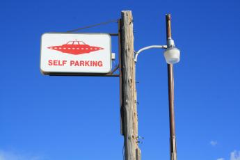 Little A'le'inn Self Parking sign