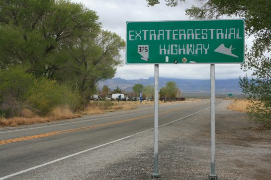 The sign for the Extraterrestrial Highway.