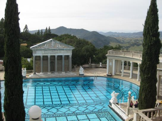 Hearst Castle's famous swimming pools enhance the opulent estate.