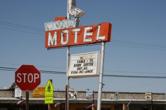 The condemned Mayfair Motel in Ridgecrest, California