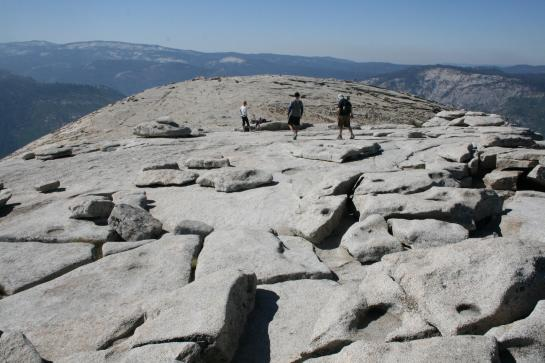 Justin, Laura, guy on top of Half Dome