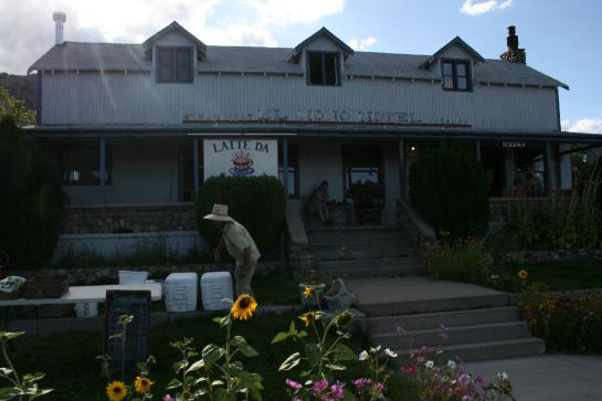 Latte Da Coffee Cafe in Lee Vining, California, near Yosemite National Park's east entrance
