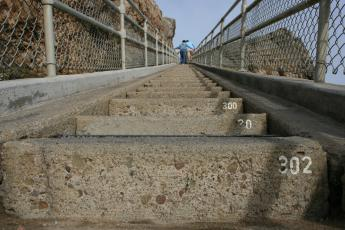 Visiting the Point Reyes Lighthouse requires visitors to walk down and up 302 stairs.