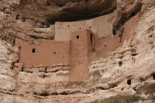 The Sinagua built Montezuma Castle, one of the best preserved cliff dwellings in North America.
