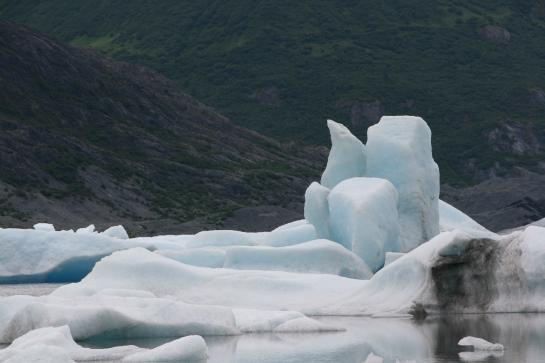 Ice chunks float in the melt of Spencer Glacier.