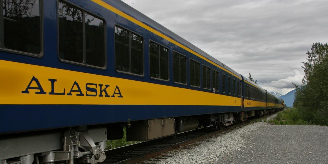 The Alaska Railroad's Glacier Discovery Train takes passengers to Whittier, Spencer Glacier, and Grandview.