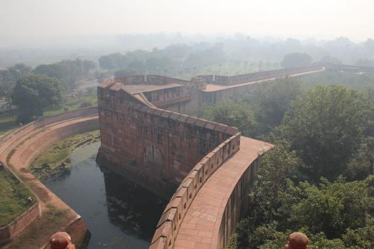 Agra Fort is one of the best-preserved red-sandstone Mughal forts in India.