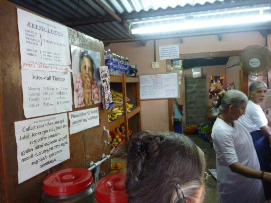 The Amritapuri juice stall has a complex set of rules for its customers.