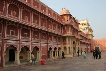 A view of the City Palace's Chandra Mahal — the royal residence — in Jaipur, India