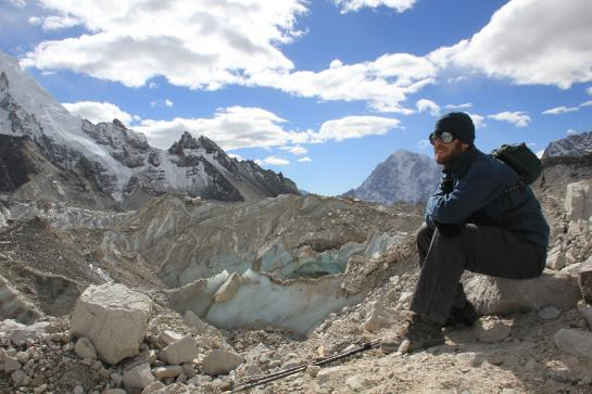 Brian takes a break near Everest Base Camp, Nepal.