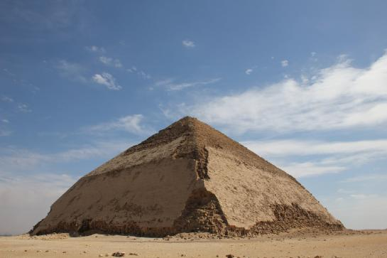 Not a single tourist can be seen in post-revolution Egypt at the Bent Pyramid in Dahshur.