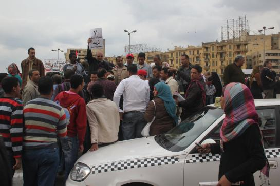 Protesters gather on a Friday in Cairo's Tahrir Square.