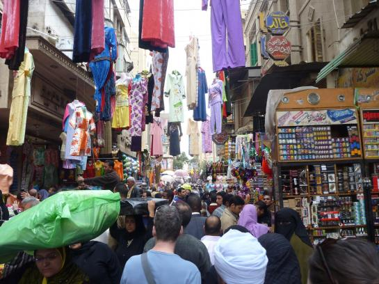 The Muski in Islamic Cairo is a street packed with vendors.