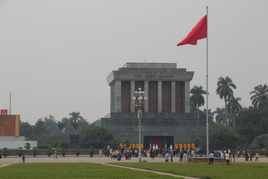 Ho Chi Minh's cryogenically frozen body lies in a mausoleum in Ba Dinh Square, Hanoi.