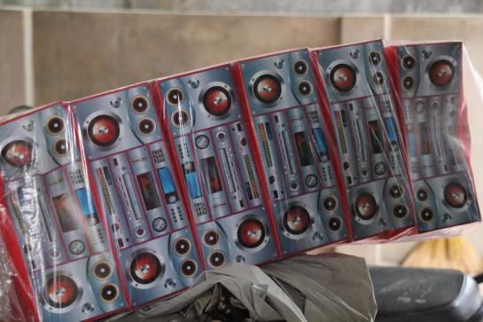 Votive (fake paper) stereo systems are among the products manufactured in Dong Ho, Vietnam.