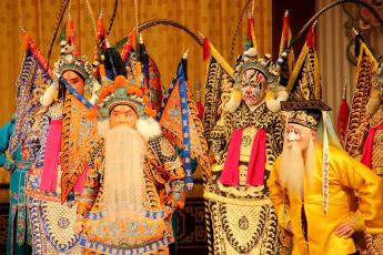 Actors perform during a Beijing opera at the Yifu Theatre in Shanghai, China.