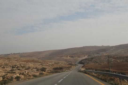 Route 60 leads south through Israel, the West Bank, and the Judaean Mountains.