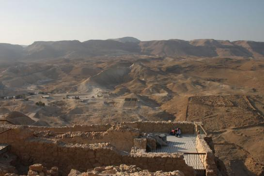 A view of the surrounding desert as seen from the top of Masada. (photo by Brian Leukart)