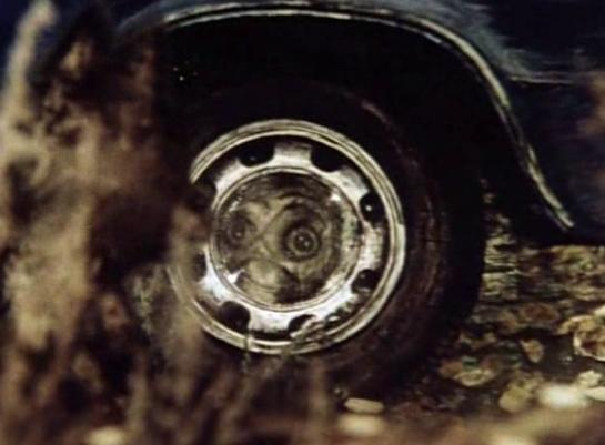 In Tale of Tales, a wolf admires his reflection in a car's hub cap.