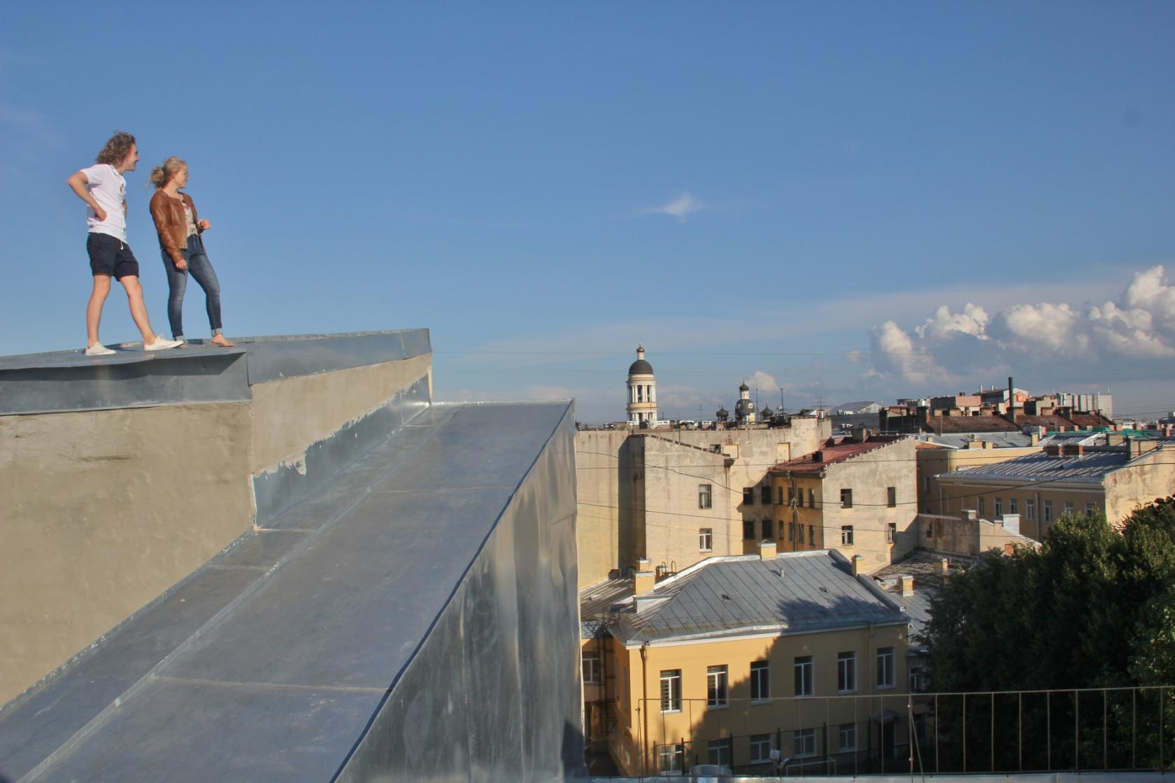 Taking A Rooftop Tour In St Petersburg Russia Without