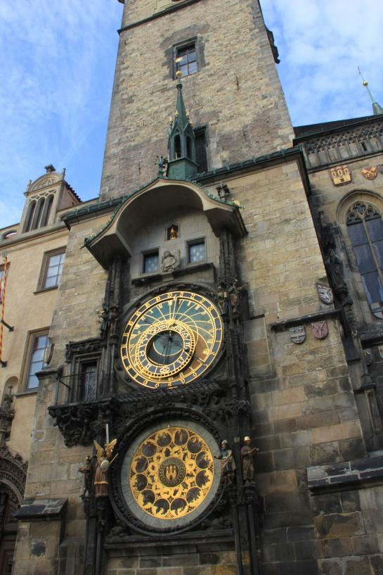Prague's Astronomical Clock sits in Old Town Square.