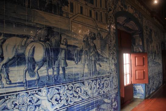 Azulejos adorn the walls of Portugal's Sintra National Palace.