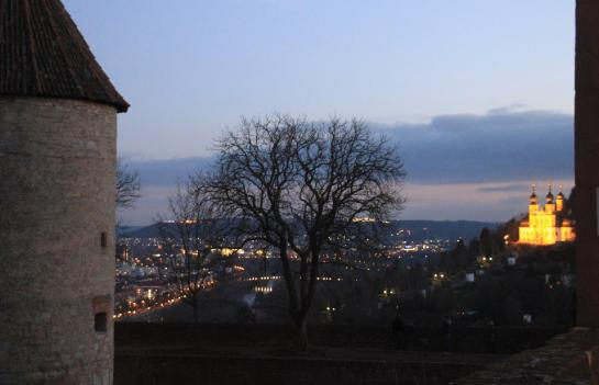 Würzburg, seen here from the Marienberg Fortress overlooking the city, was destroyed in a 1945 British air raid but has since been rebuilt.