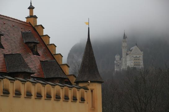 Ludwig II watched the builders' progress on Neuschwanstein with a telescope in the Music Room of Hohenschwangau.