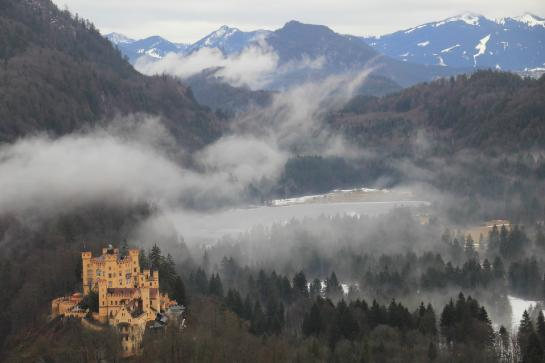 Ludwig II lived in Hohenschwangau Castle before eventually moving to fairtytale Neuschwanstein.