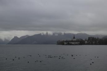 Gmunden Schloss Ort on Traunsee Lake view