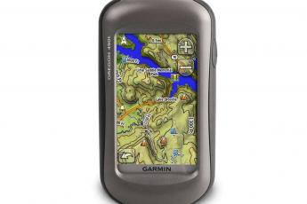 The Garmin Oregon 450t