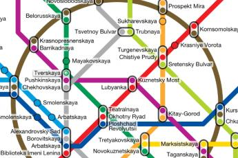 The Moscow Metro map in Metropolitan