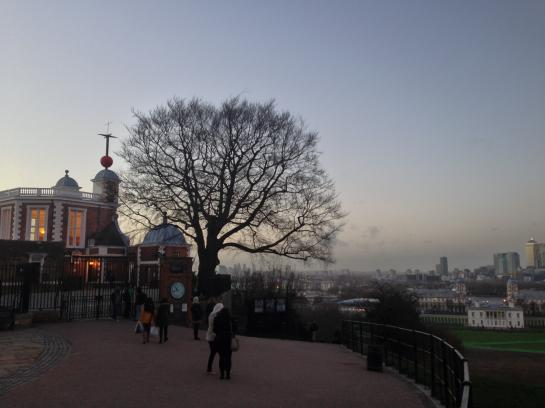 London's Royal Observatory at sunset