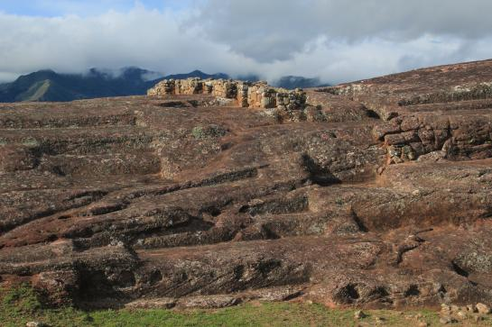 The Andes Mountains surround the El Fuerte de Samaipata ruins in Bolivia.