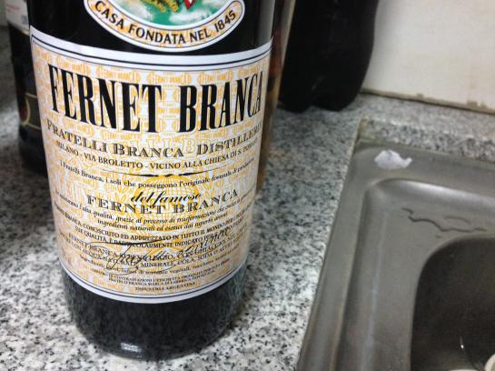Fernet is an pungent herbal liqueur, popular in Bolivia.