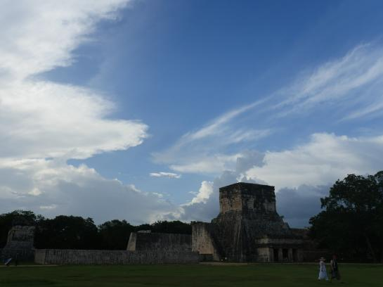 The overwhelming Great Ball Court in Chichen Itza, Mexico is the largest in Mesoamerica.