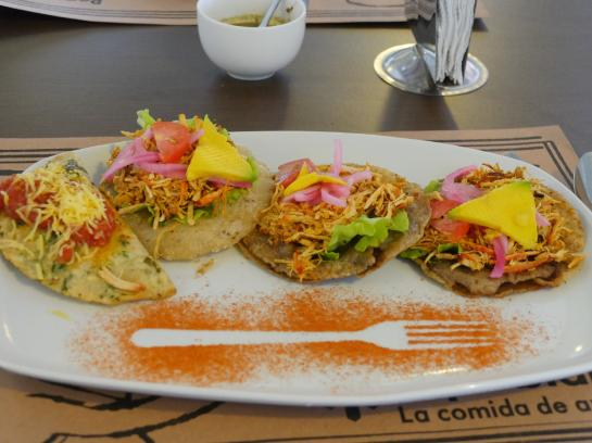 Mouth-watering empanadas, panuchos, and salbutes are served at restaurant Manjar Blanco in Mérida, Mexico.
