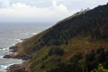 The Finisterre lighthouse sits at the end of the peninsula.